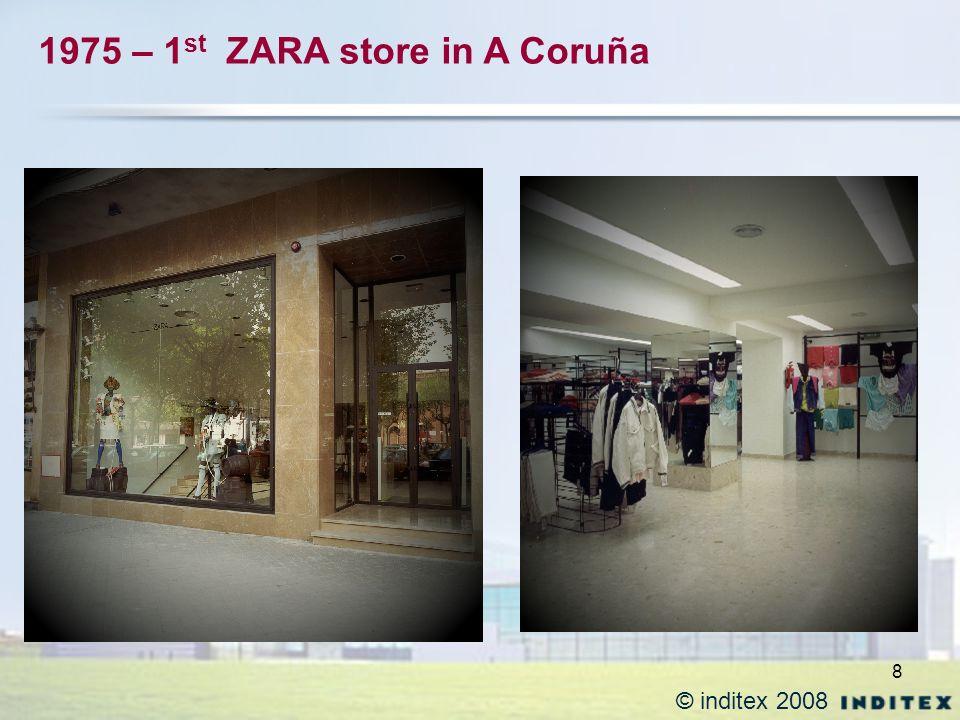8 © inditex 2008 1975 – 1 st ZARA store in A Coruña