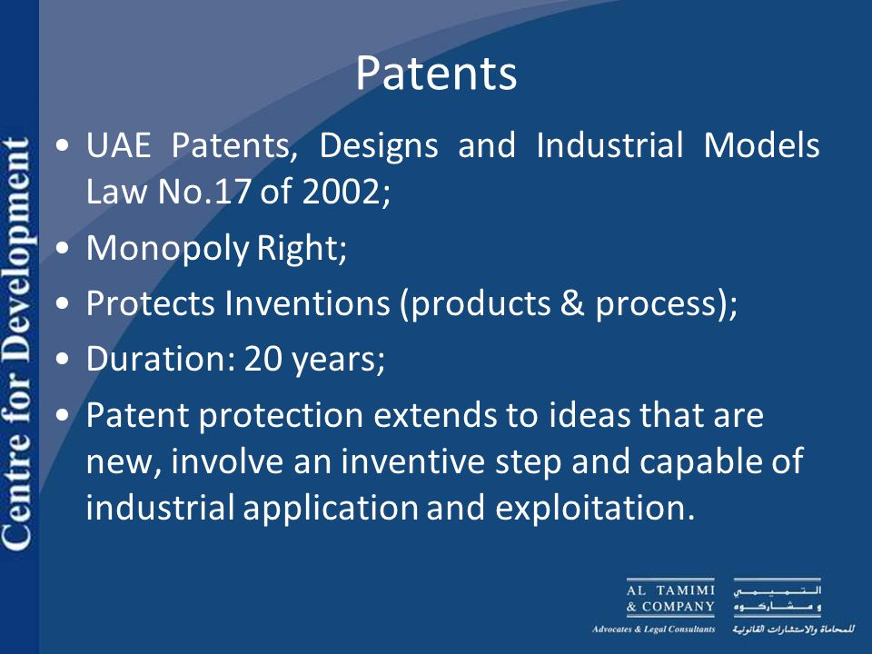 Patents Patents life runs for 20 years from the date of filing of a patent application in a given country.