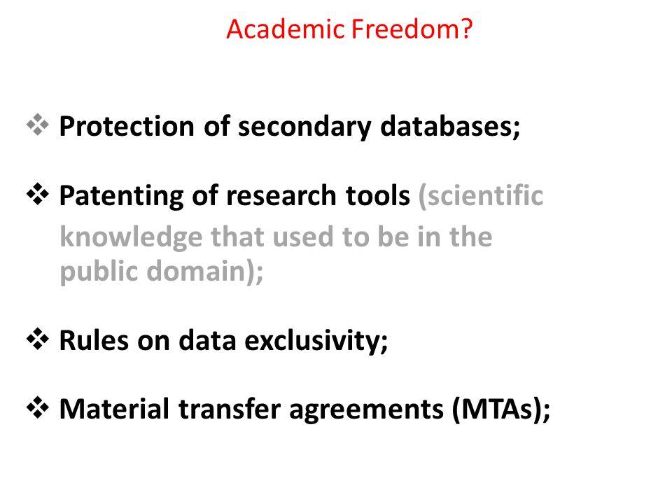 Academic Freedom.
