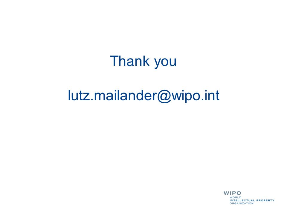Thank you lutz.mailander@wipo.int