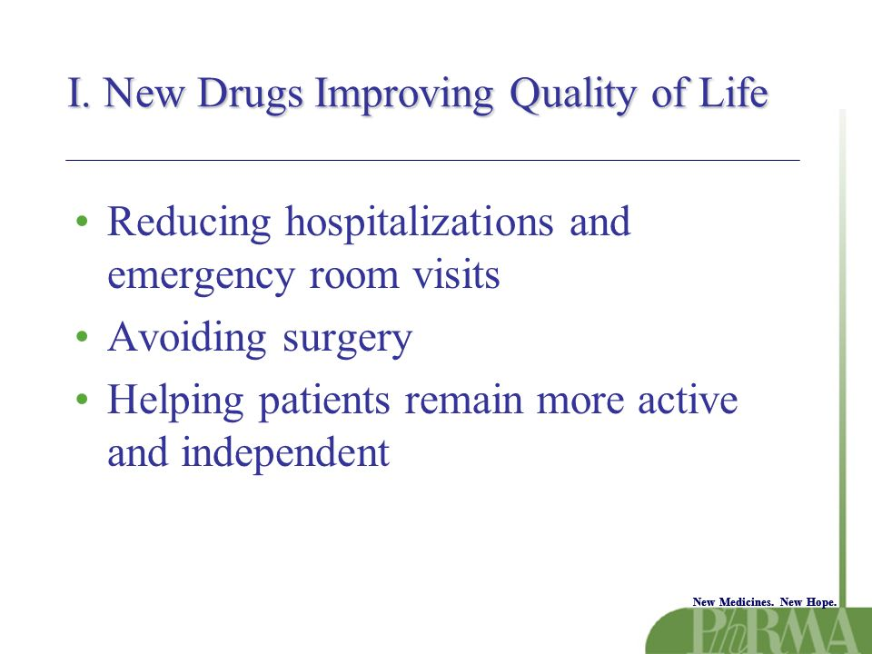 New Medicines.New Hope. Value to Society I.Curbing overall health care spending.