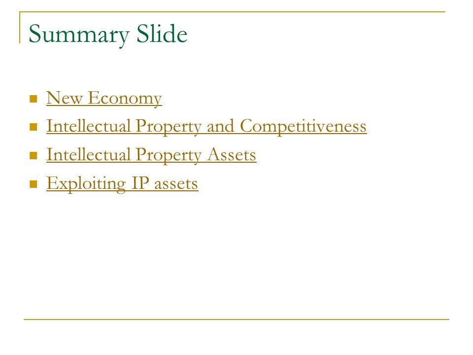 Exploiting Intellectual Property Assets Tamara Nanayakkara Counsellor SMEs Division World Intelllectual Property Organization