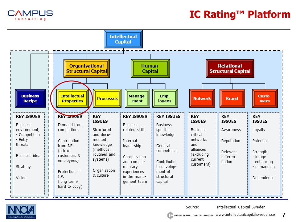 7 IC Rating Platform KEY ISSUES Demand from competitors Contribution from I.P.