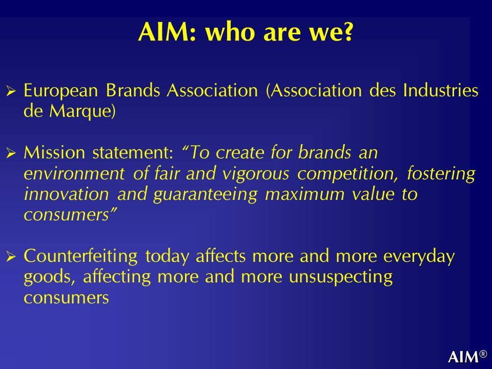 AIM: who are we.