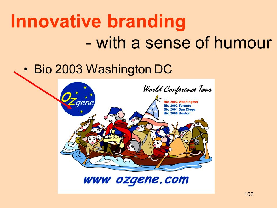 102 Innovative branding - with a sense of humour Bio 2003 Washington DC