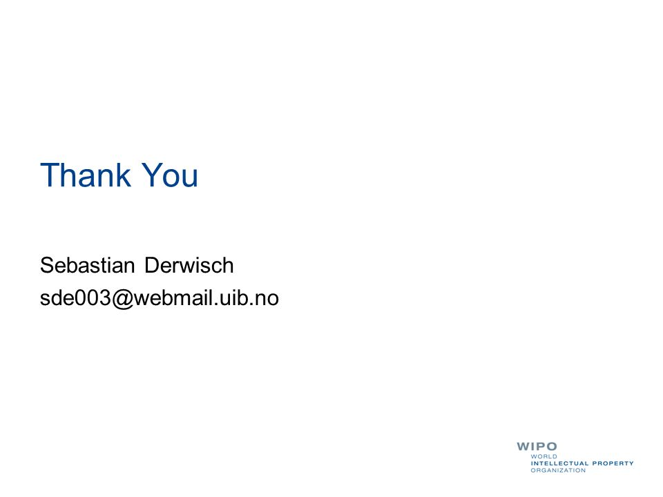 Thank You Sebastian Derwisch sde003@webmail.uib.no