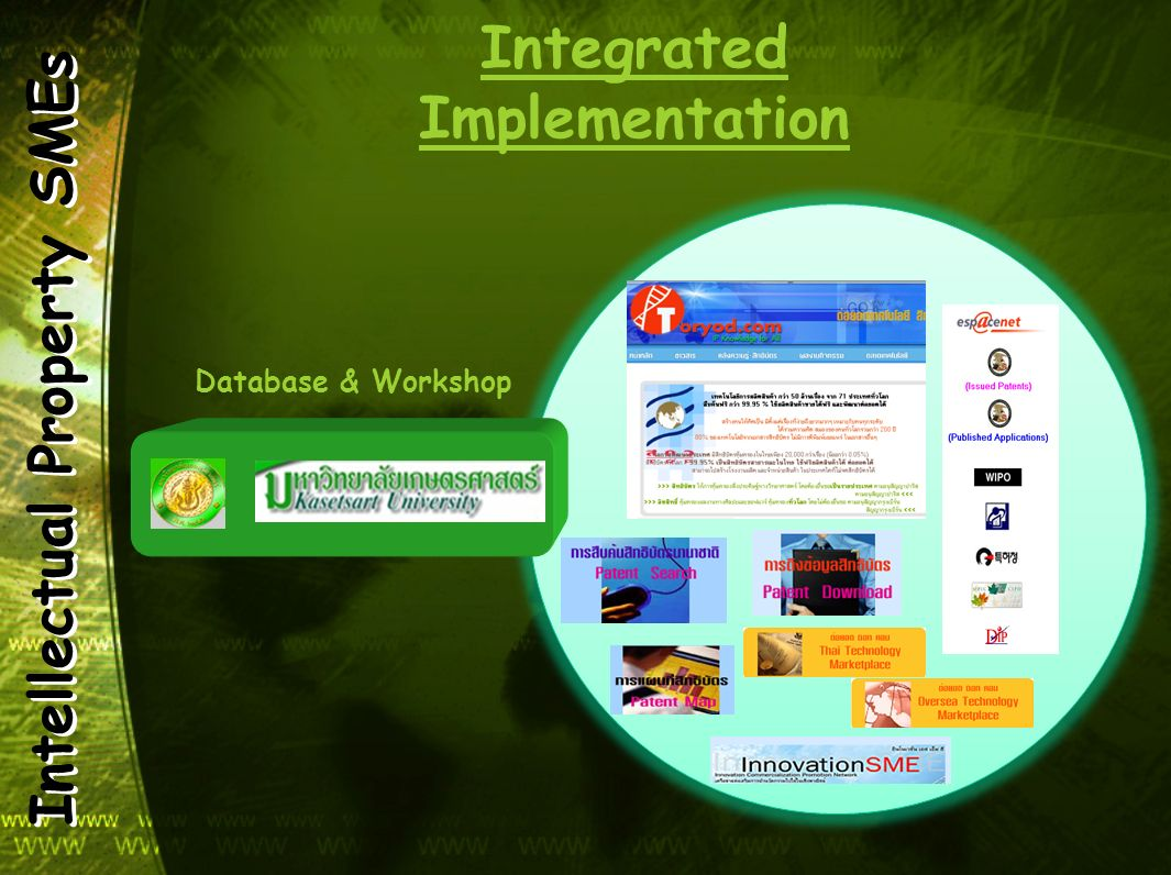 Intellectual Property SMEs Integrated Implementation Database & Workshop