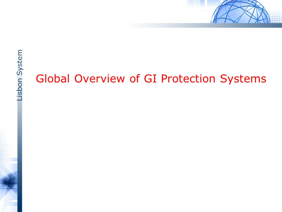 Lisbon System Global Overview of GI Protection Systems