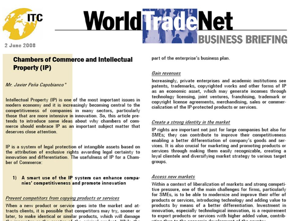 IP AND CHAMBERS OF COMMERCE