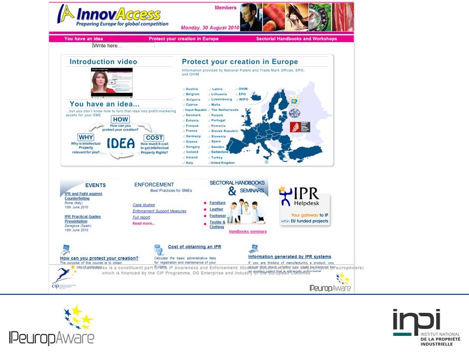 Results - Website for SMEs A general area on IP matters Why is IP relevant for your company.