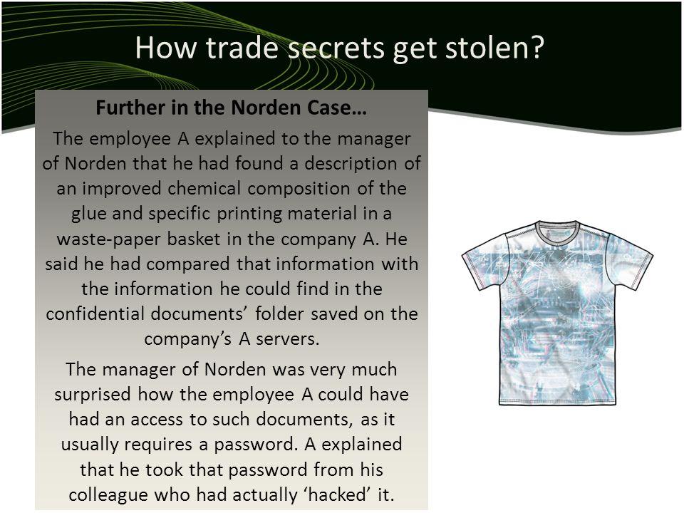 How trade secrets get stolen.