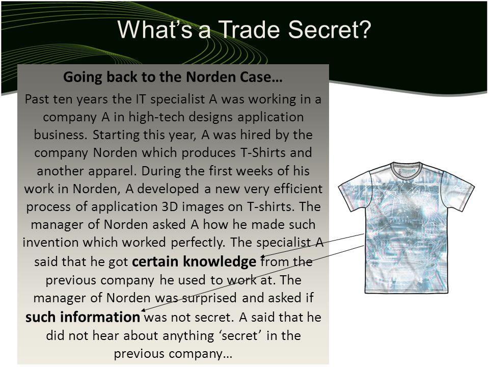 Whats a Trade Secret.