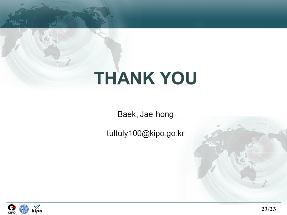 23/23 THANK YOU Baek, Jae-hong