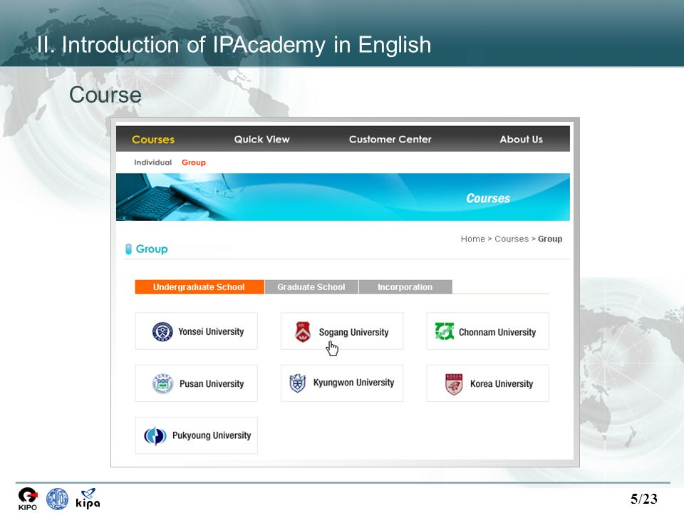 5/23 Course II. Introduction of IPAcademy in English