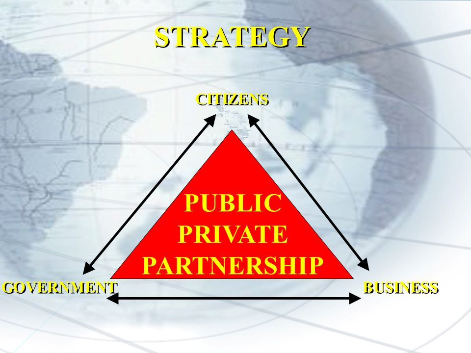 PUBLIC PRIVATE PARTNERSHIP CITIZENS BUSINESS GOVERNMENT STRATEGY