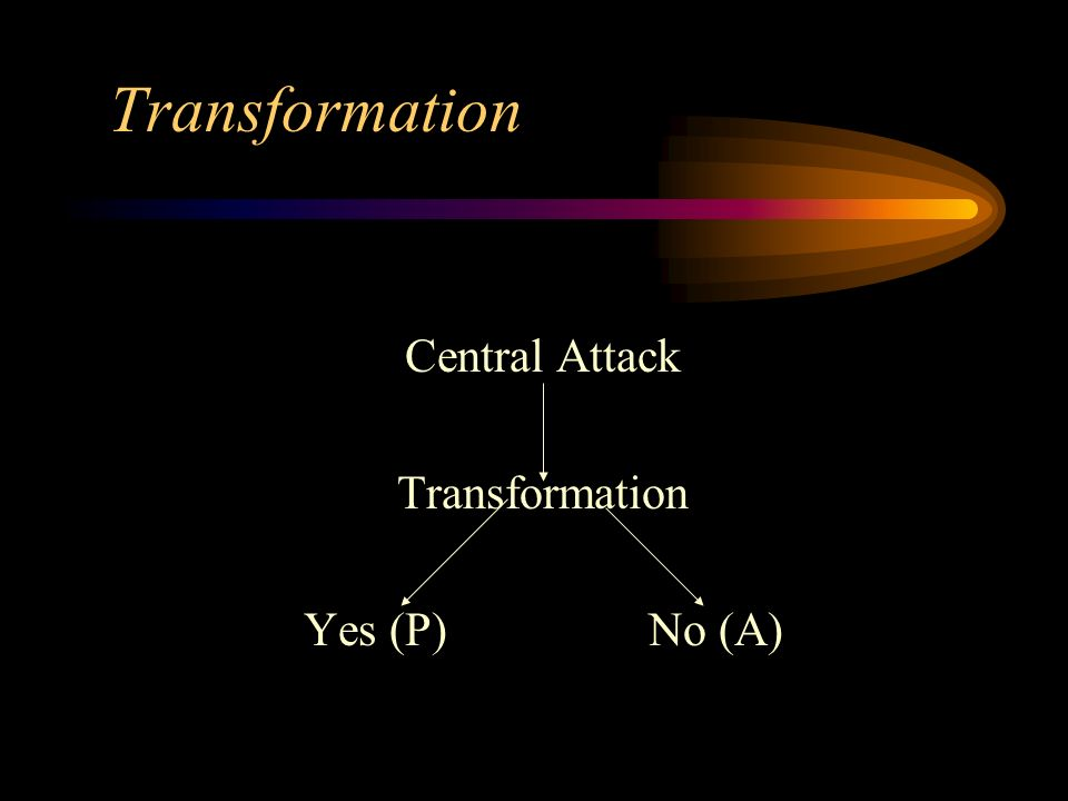 Transformation Central Attack Transformation Yes (P) No (A)