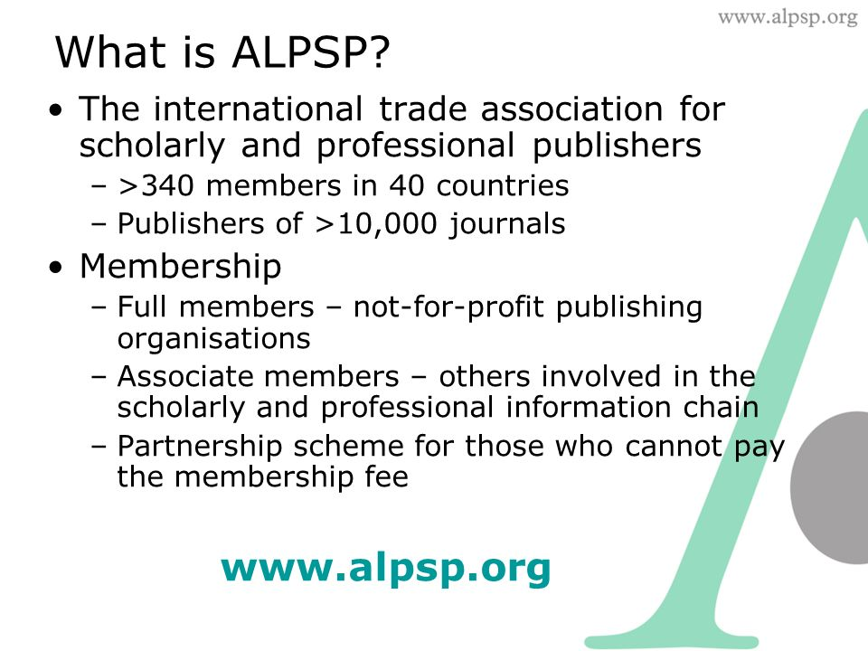 What is ALPSP.
