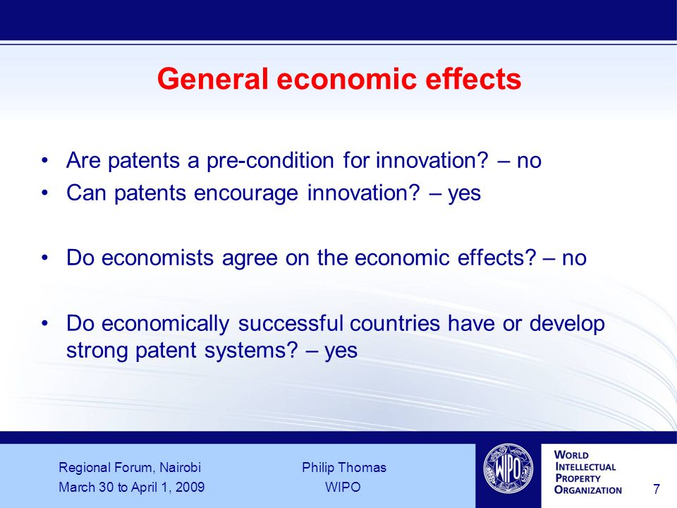 Regional Forum, Nairobi Philip Thomas March 30 to April 1, 2009WIPO 18 Patent claims example (part 1) From: International Application No.