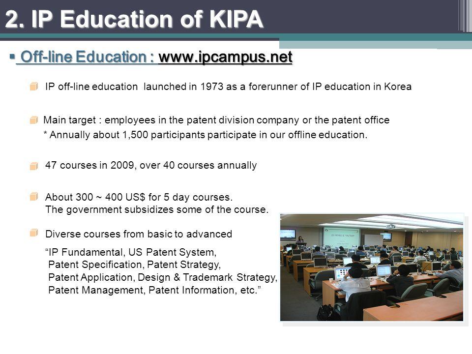 On-line Education : www.ipacademy.net On-line Education : www.ipacademy.net 2. IP Education of KIPA