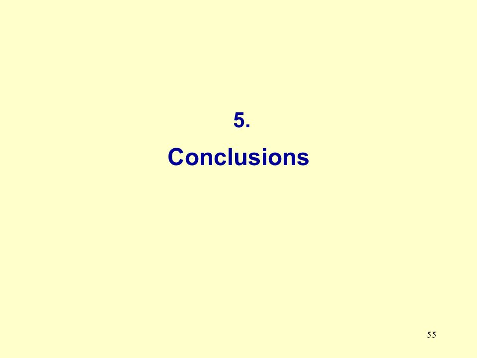 55 5. Conclusions