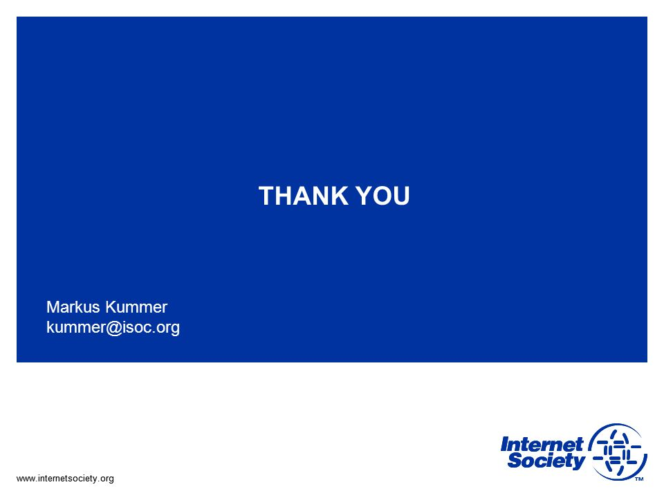 THANK YOU Markus Kummer