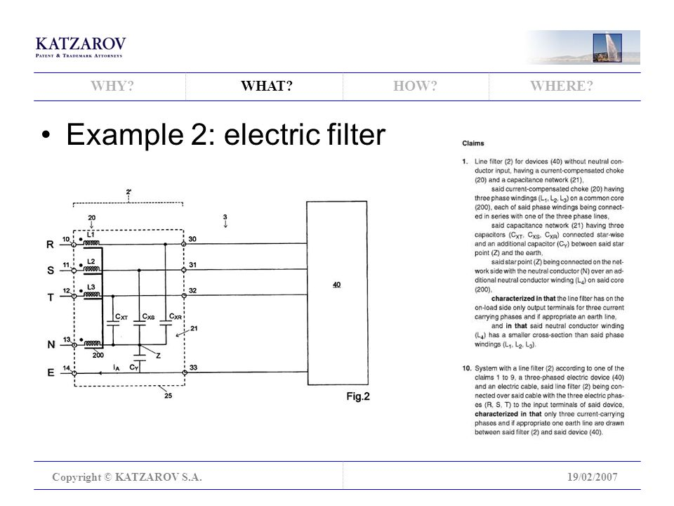 WHY WHAT HOW WHERE Copyright © KATZAROV S.A.19/02/2007 Example 2: electric filter