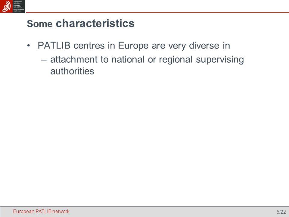 6/22 Types of hosting authorities European PATLIB network