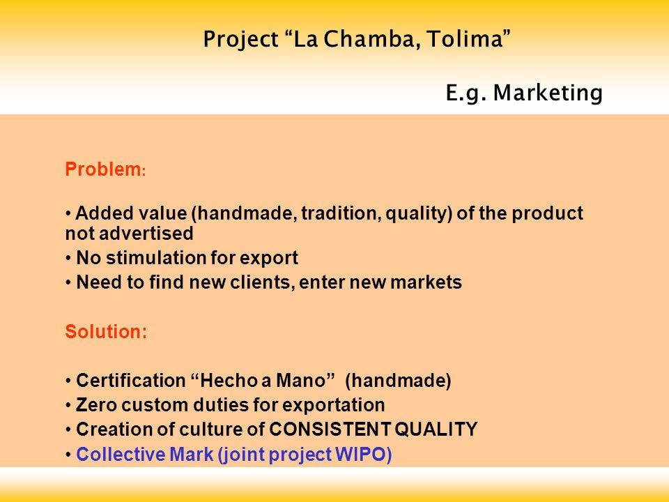Project La Chamba, Tolima E.g.