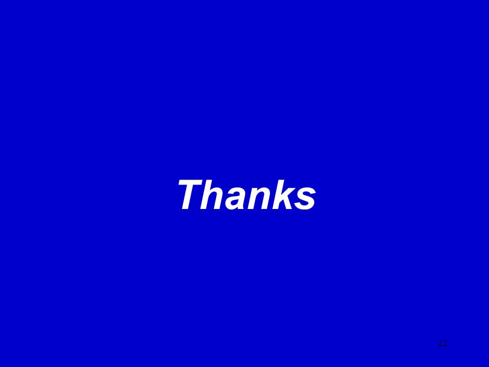 22 Thanks