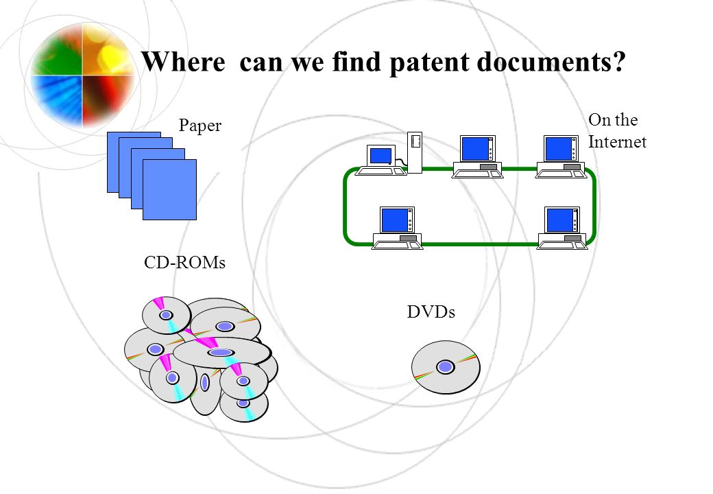 CD-ROMs DVDs Paper On the Internet Where can we find patent documents?