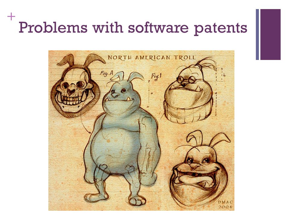 + Problems with software patents