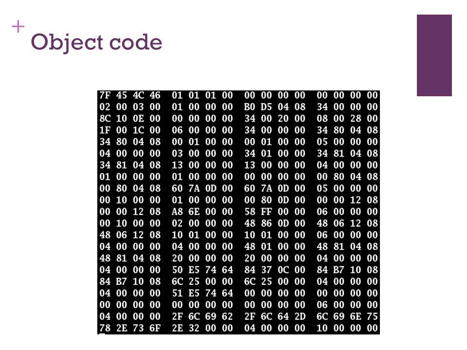 + Object code