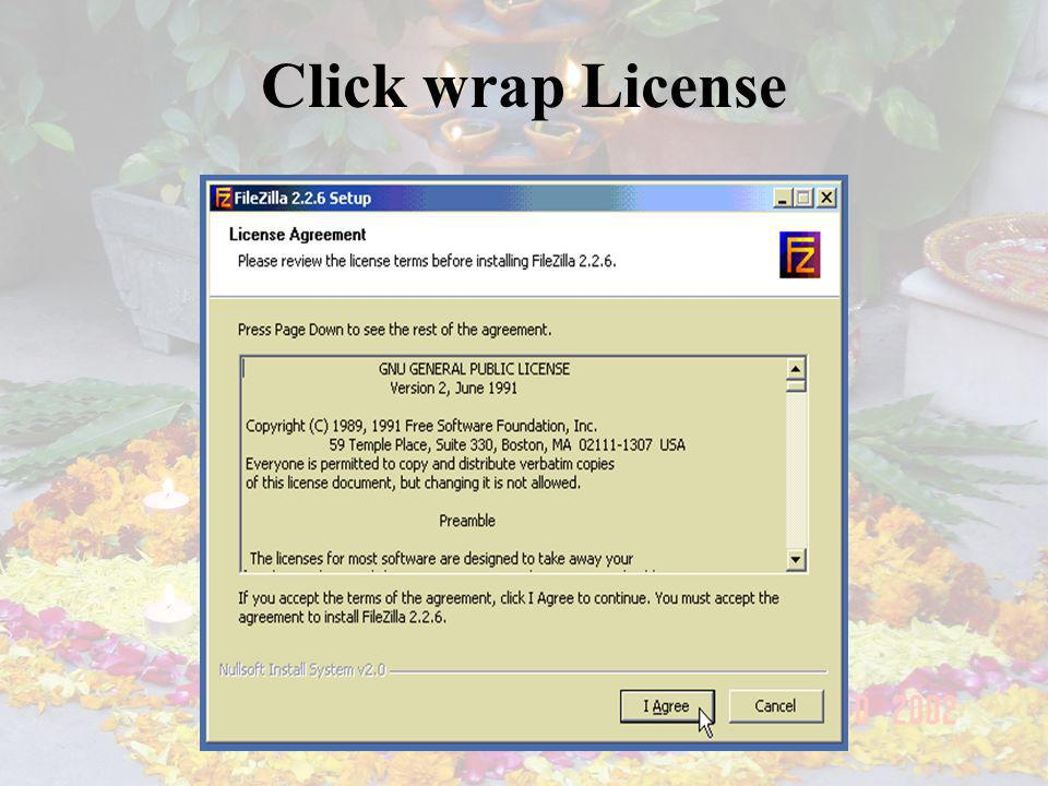 Click wrap License