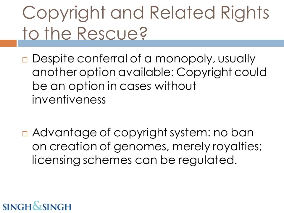 Copyright and Related Rights to the Rescue.