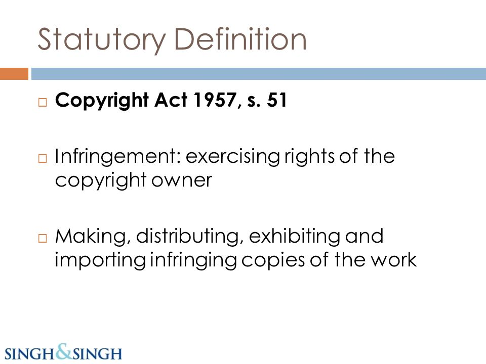 Statutory Definition Copyright Act 1957, s.
