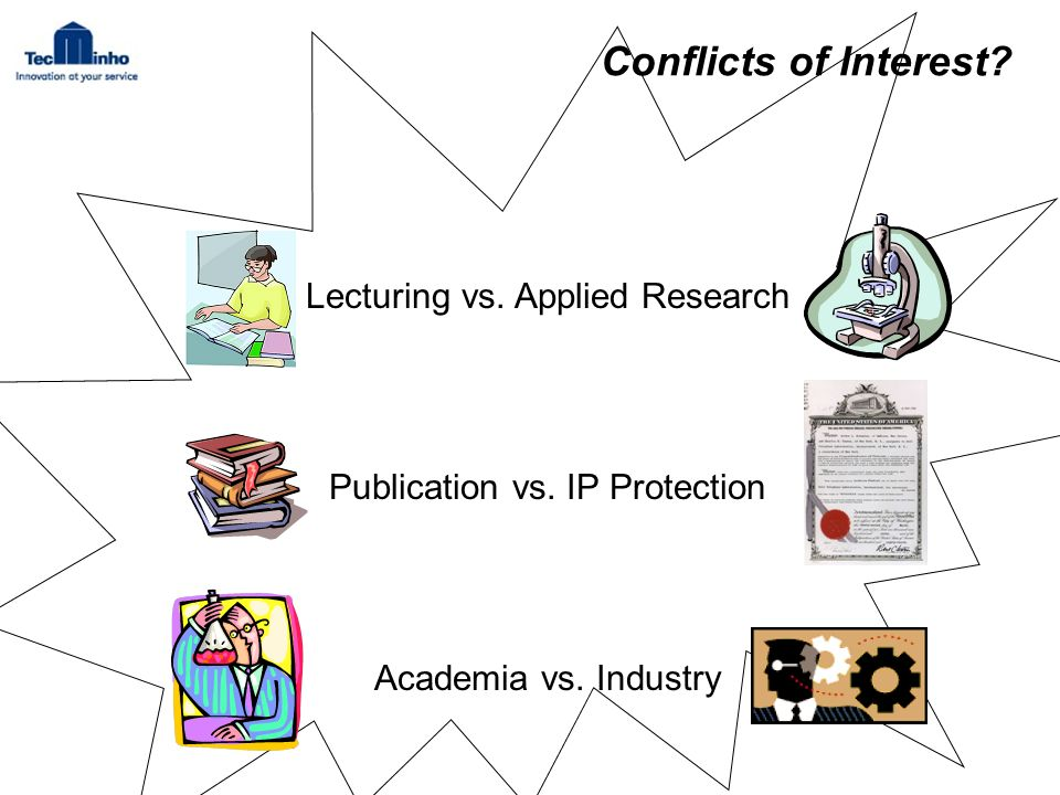 Conflicts of Interest. Lecturing vs. Applied Research Publication vs.