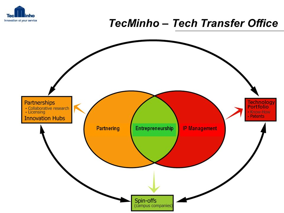 Entrepreneurship IP ManagementPartnering TecMinho – Tech Transfer Office
