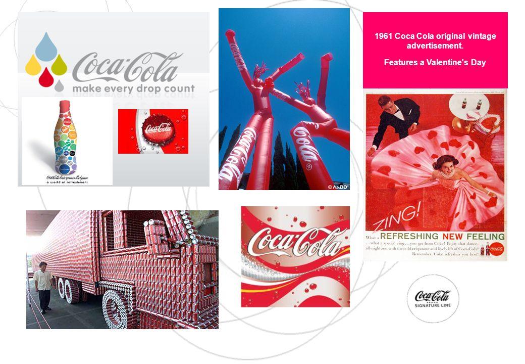 1961 Coca Cola original vintage advertisement. Features a Valentine's Day