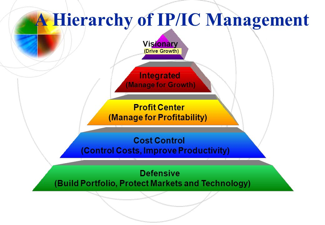 A Hierarchy of IP/IC Management Cost Control (Control Costs, Improve Productivity) Profit Center (Manage for Profitability) Integrated (Manage for Gro