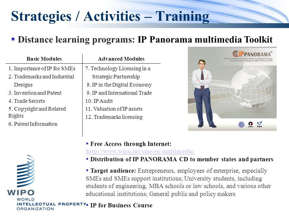 Strategies / Activities – Training Basic ModulesAdvanced Modules 1.