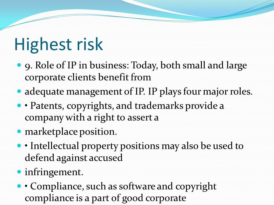 Highest risk 9.