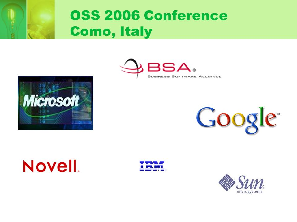 OSS 2006 Conference Como, Italy