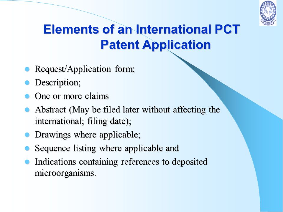 Structure of a Patent Specification Specification Description Claims Drawings Optional Best Mode Examples (Optional) Manner of Production & Utility Ab