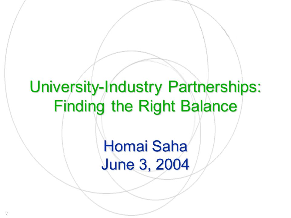 All these examples show: The experience of most developed countries in maximizing university-industry partnerships is not a long one A technology transfer system is more than just national laws allowing the ownership of IP by public research institutions, it requires an institutional framework which provides incentives to each of the players in the system The experience is varied and no one policy prescription exists 13