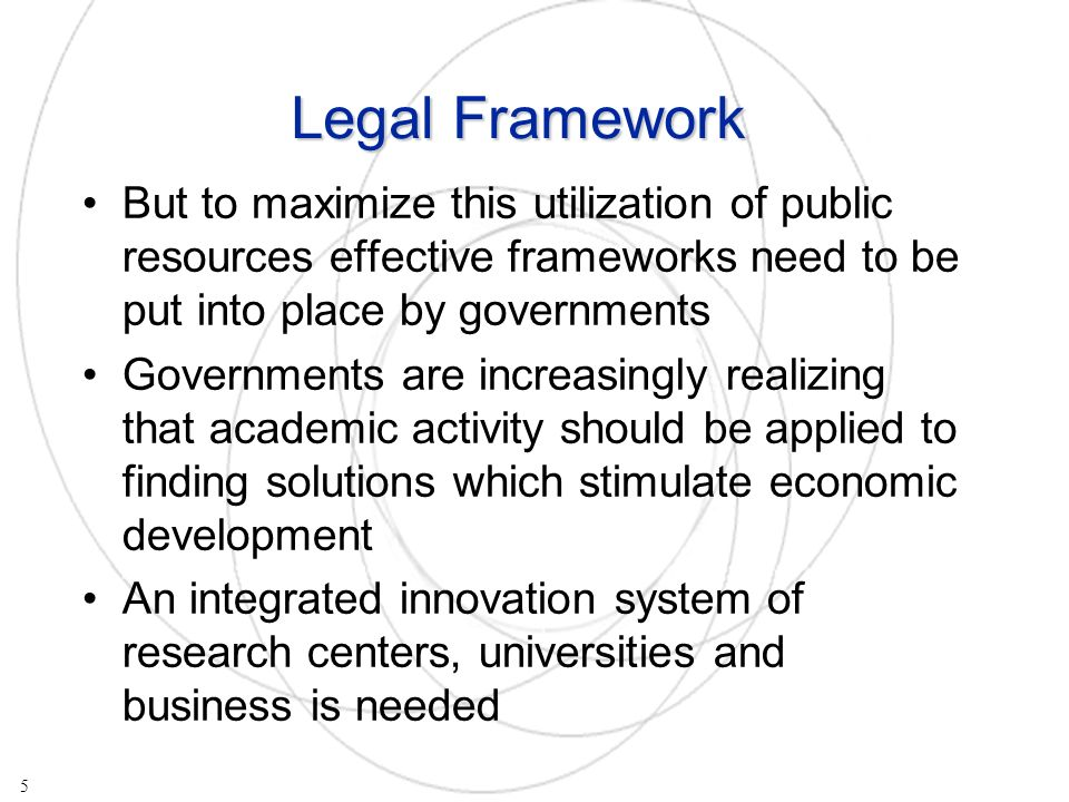 Private ownership and commercial interests are a strong incentive for research Technology transfer from universities is encouraged when they are allowed to patent and license their technologies to industry For PROs such transactions yield money - more money for research 6 How does this work in practice?