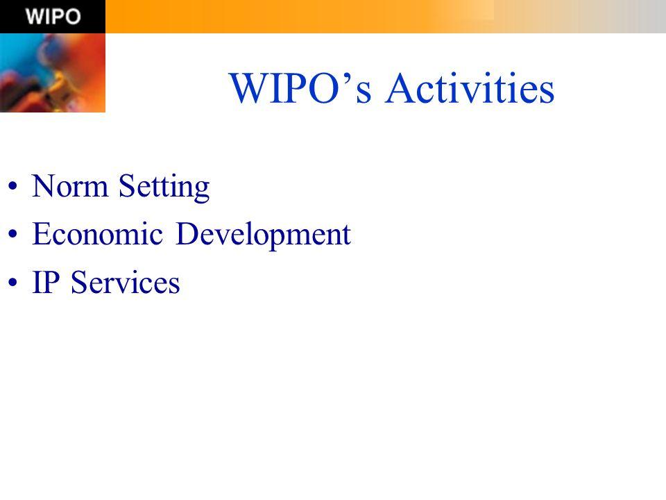 WIPOs Activities Norm Setting Economic Development IP Services