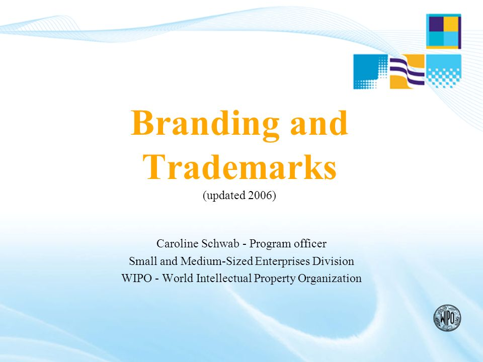 What to avoid when selecting a Trademark Generic terms: CHAIR to sell chairs Descriptive terms: SWEET to sell chocolates Deceptive terms: ORWOOLA or Pure whool for 100% synthetic material Marks and terms contrary to public order/morality Do not use flags, armorial bearings, official hallmarks, emblems without a legal authorization