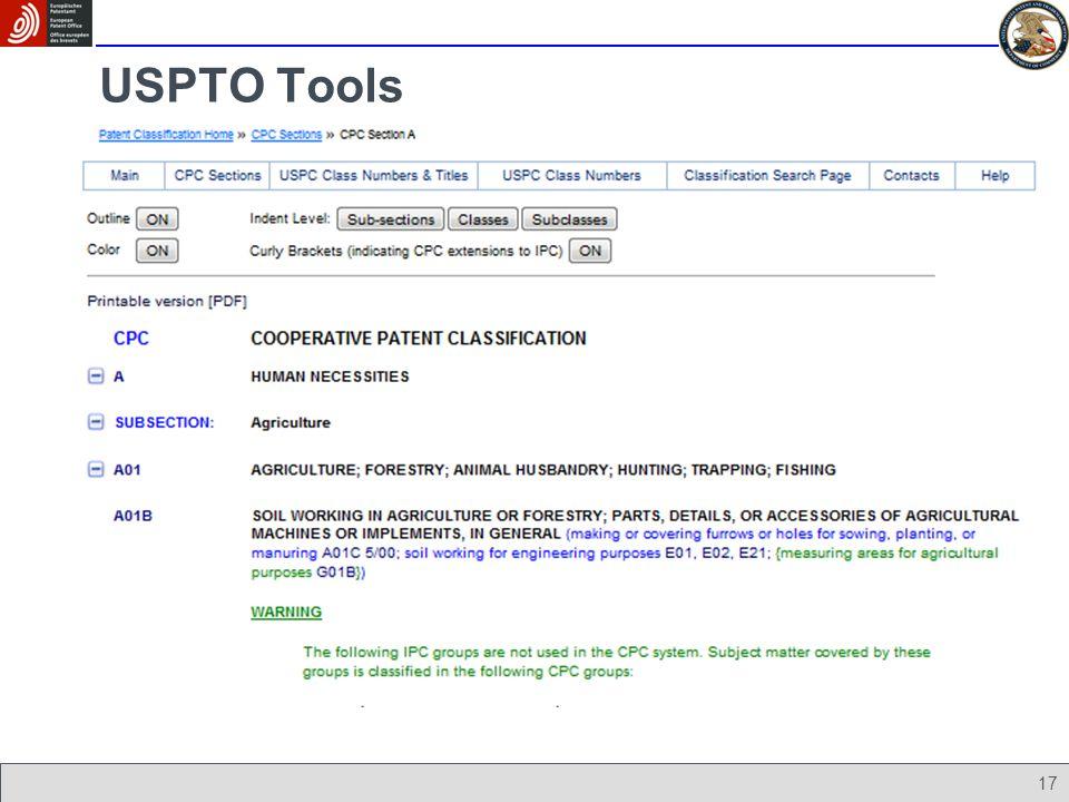 17 USPTO Tools
