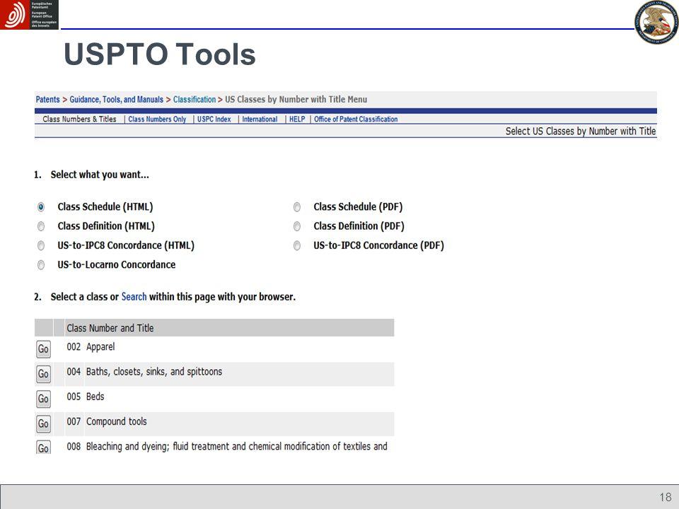 18 USPTO Tools