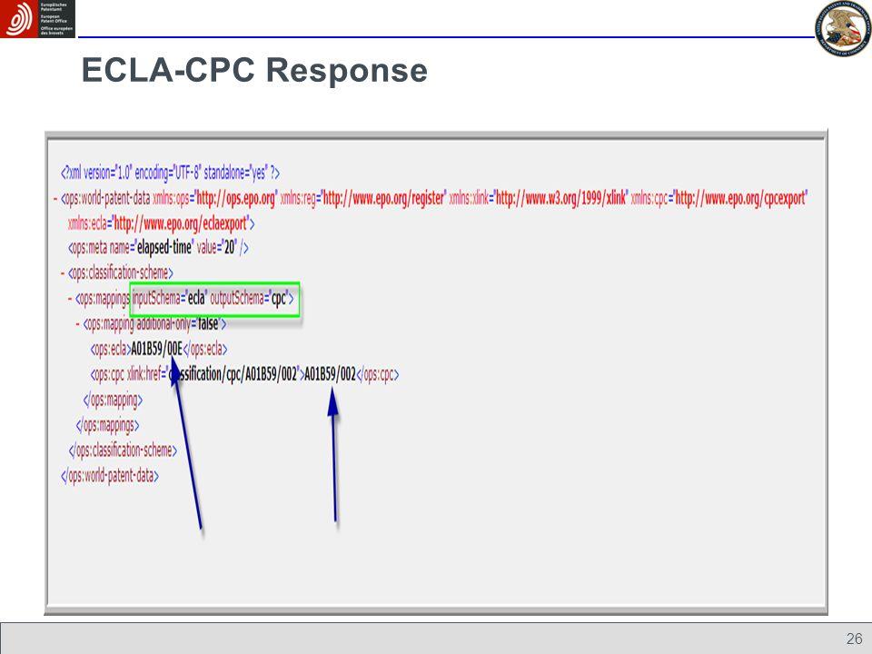 26 ECLA-CPC Response